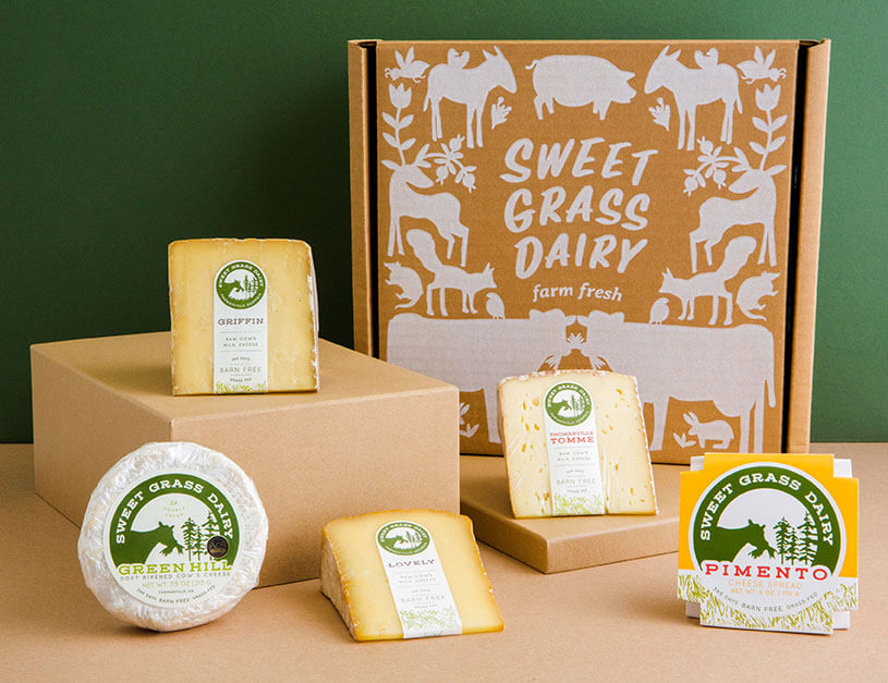 sweet grass dairy homepage tile
